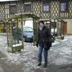 Auf dem Place Adrien Arnoux im Winter (Bild: Ulrich Klose)
