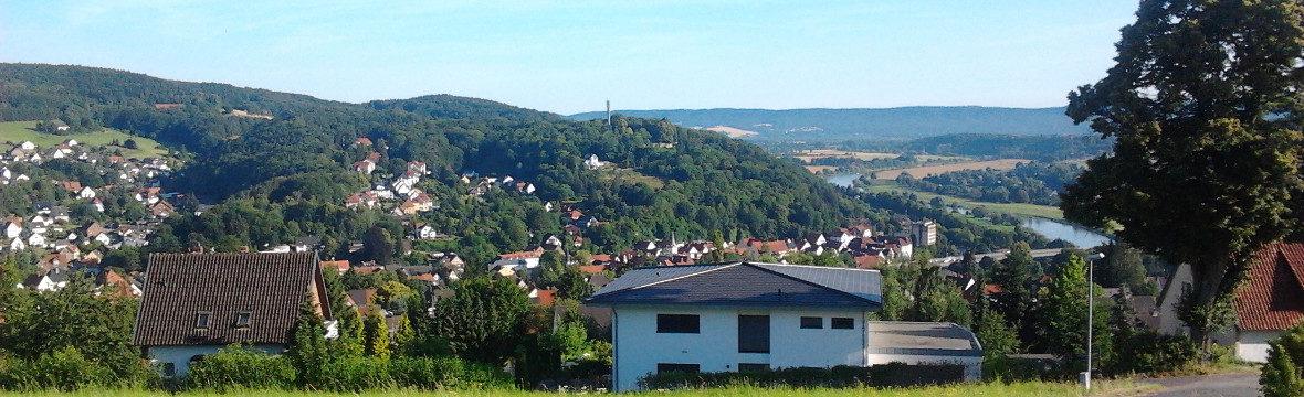 Blick von der Maasbecker Straße auf Vlotho. (Bild: Ulrich Klose)