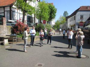 Besuchsgruppe 2016 vor dem Brink an der unteren Langen Straße