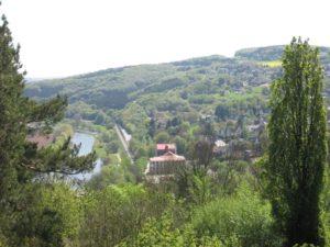 Blick auf den Vlothoer Winterberg von der Burg Vlotho aus