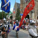 Festumzug während der fêtes franco-ecossaises in Aubigny 2018.