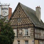 Eines der typischen Fachwerkhäuser in der Innenstadt von Aubigny