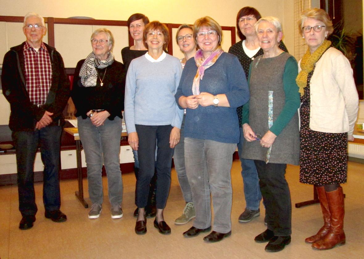 Der Vorstand 2019 des Partnerschaftsvereins Vlotho – Aubigny