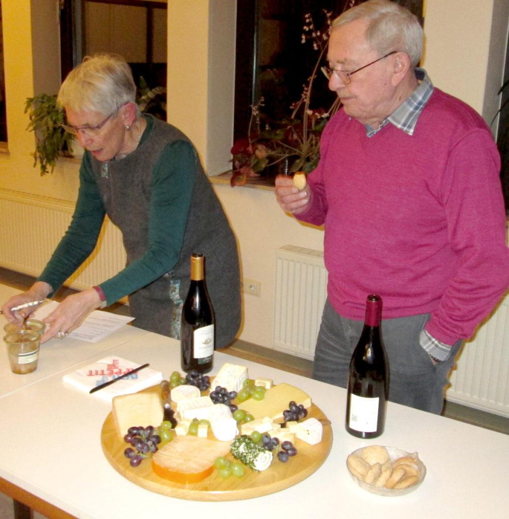 Käse und Wein auf der Jahreshauptversammlung 2019
