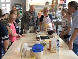 Crepes-Backen in der Jugendfreizeitstätte am 7. August 2019