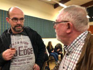 Téléthon 2019: Gespräch beim Guignolet Kirsch