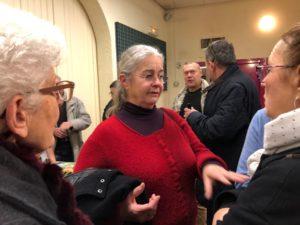 Téléthon 2019: Gespräche während der Ergebnisbekanntgabe im Salle de Fêtes