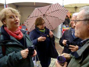 Téléthon 2019 in Aubigny: Glühweinverkauf